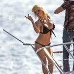 ©BAUER-GRIFFIN.COM Pamela Anderson poses for a sexy photocall in Cannes photographed by famed photographer Ellen Von Unwerth aboard a boat in the French Riveria. NON-EXCLUSIVE     May 18, 2007 Job: 30338   Cannes, France www.bauergriffin.com