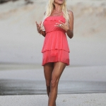 8373783 Victoria Silvstedt shows off her sexiest side on the beach in St. Barths France on January 6, 2012.  Restriction applies: USA/AUSTRALIA ONLY   FameFlynet, Inc. - Santa Monica, CA, USA - +1 (310) 395-0500